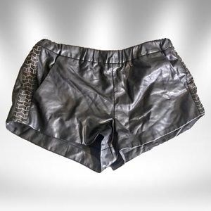 🔺Faux leather shorts | foreign exchange🔺